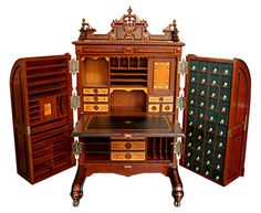 19th century Victorian Wooton desk | ... and patented by William S. Wooton during the late 19th century