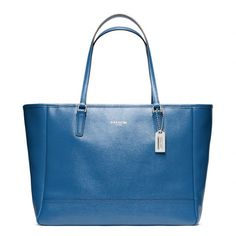 Coach Saffiano Medium City Tote ($298) ❤ liked on Polyvore