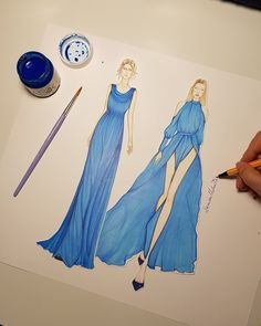 #fashionillustration #denisamelinte #hautecouture #art