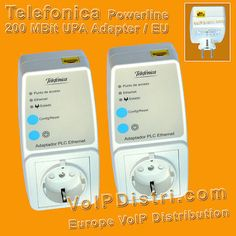 2x 200Mbit Powerline DS2 PowerLAN Network Socket Telefonica/Comtrend