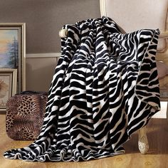 Double-face Zebra stripes fashion thick Blanket Travel/Hotel/Sofa Throws or decorative plaids Queen size soft bedsheet Feng Shui, Stripes Fashion, Sofa Throw, Queen Size, Bed Sheets, Animal Print Rug, Cool Things To Buy, Plaid, Blanket