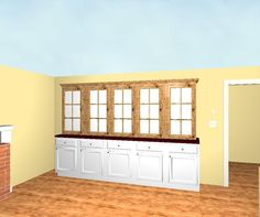 Proposal for custom cabinetry in an activity room in Southborough, MA