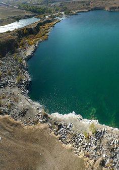 Natalevsky quarry from height Zaporozhye, Ukraine