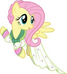 Fluttershy as Flutterholly by pink1ejack.deviantart.com on @DeviantArt