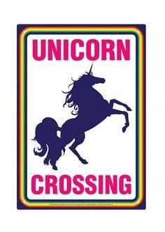 Unicorn Crossing - Novelty Tin Sign image