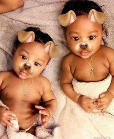 awww so cute Black Baby Boys, Twin Baby Boys, Cute Black Babies, Beautiful Black Babies, Cute Little Baby, Baby Kind, Twin Babies, Pretty Baby, Little Babies