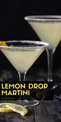 Bright and refreshing, this Lemon Drop Martini recipe is the perfect balance of sweet and sour! This easy vodka cocktail will make you look like a master bartender and is the special (but EASY) touch… More Cocktails Made With Rum, Refreshing Cocktails, Summer Drinks, Fun Drinks, Vodka Drinks, Martinis, Party Drinks, Mixed Drinks, Beverages