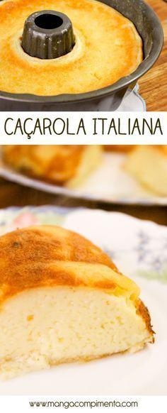 Caçarola Italiana | Sobremesa para o almoço de família! #receita #comida #doce #sobremesa