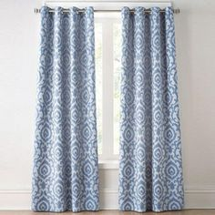 wholeHome CONTEMPORARY(TM/MC) 'Ikat' Lined Jacquard Grommet Panel - Sears (in dark chocolate)