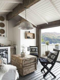 beautiful scandinavian veranda