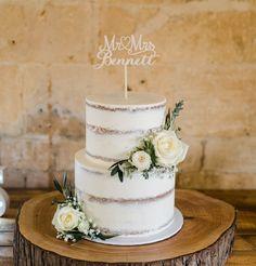 Seminaked Wedding Cake, Luxury Wedding Cake, Wedding Cake Rustic, Wedding Cakes With Cupcakes, White Wedding Cakes, Rustic Cake, Wedding Cakes With Flowers, Elegant Wedding Cakes, Wedding Cake Designs