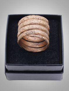 Ancient Adornment - Ancient Viking Mans Coil Ring C.866-1067A.D. Size 10 1/2 (20mm) Antique Vintage Band (Brr813)