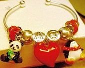 Darling Made to Order Girls and Teens Charm Bracelets in European Bead Style Cuff