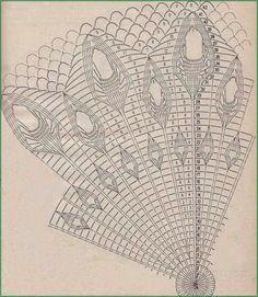 Вязание крючком большой круглой салфетки «Павлиний хвост» | Уют и тепло моего дома