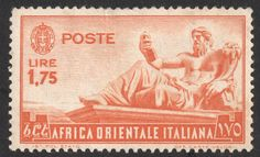"Scan_Italian 1938 Scott 14 1.75 l orange ""Statue of the Nile"""