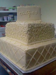 Close up of the cake