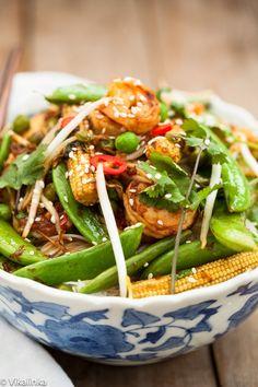 Speedy Sesame Shrimp Stir Fry #glutenfree #healthy