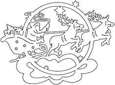 "Vytynanka ""Santa and deer"" Christmas Drawing, Christmas Paper, Christmas Crafts For Kids, Christmas Projects, Christmas Stencils, Christmas Templates, Decorating With Christmas Lights, Christmas Decorations, Cross Stitch Christmas Ornaments"