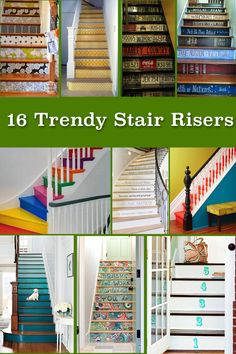 Update your home's stairs with some beautiful and decorative stair riser details!