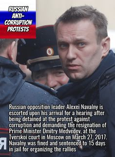 Alexei Navalny, anti-corruption leader who called for the unauthorized protests across Russia, March 26, 2017