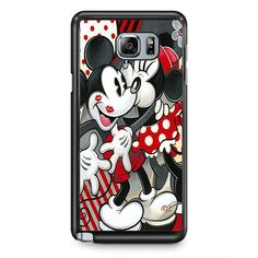 Hugs And Kisses Disney Mickey Minnie Mouse TATUM-5381 Samsung Phonecase Cover Samsung Galaxy Note 2 Note 3 Note 4 Note 5 Note Edge