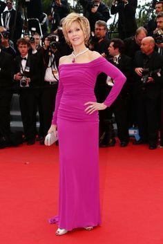 Cannes Red Carpet Dresses 2013  Jane Fonda
