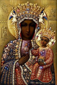 The Black Madonna Catholic Beliefs, Christianity, Our Lady Of Czestochowa, Mother Mary, Madonna, 1, Statue, Artwork, Pictures