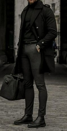 Winter Outfits Men, Stylish Mens Outfits, Casual Outfits, Men Casual, Stylish Clothes For Men, Casual Menswear, Mens Winter Boots, Herren Outfit, Mens Fashion Suits
