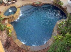 Dark gunite pool