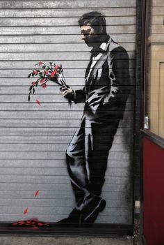 _ banksy graffiti _