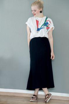 — Earrings: Vintage T-Shirt: Vintage Skirt: Chanel...