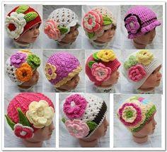 Gorros de ganchillo hechos a mano para bebés | Gorros Crochet