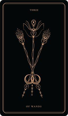 Three Of Wands, Witchy Wallpaper, Tarot Tattoo, Tarot Astrology, Tarot Major Arcana, Tarot Card Meanings, Moon Design, Oracle Cards, Book Of Shadows
