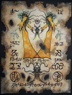 Cthulhu King in Yellow larp Necronomicon Scrolls dark by zarono