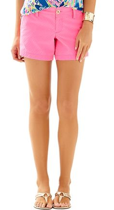 "Lilly Pulitzer 5"" Callahan Short in Tropical Pink"