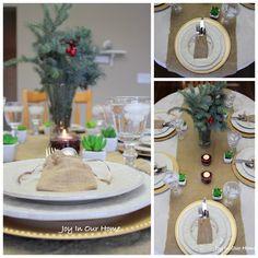 A Holiday Home Tour DIY Tablescape at www.joyinourhome