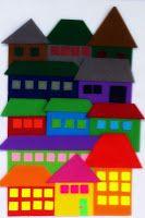 MÅL: Jeg bruker geometriske former, overlapping og fargeperspektiv og lager en by. Jeg forklarer ordet fargeperspektiv. Jeg forklar...