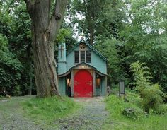 Small House Swoon ~ The Chapel ~ An old chapel salvaged and renovated into living quarters in Shropshire, United Kingdom Small House Swoon, Tiny House Living, Cabana, Canopy And Stars, Little Houses, Tiny Houses, Cabins And Cottages, Small Cabins, Tiny Spaces