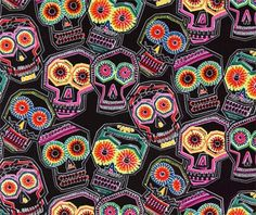 fabric - fancymoon.co.uk - day of the dead - alexander henry