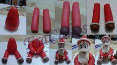 Tutorial Babbo Natale  non si può lasciare sola la piccola renna e quindi ecco il tutorial per babbo natale..