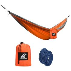 LEADSTAR Outdoor Double Camping Hammock, Made of Durable Parachute Nylon, Ultralight, Compact and Portable for Travelling, Camping, Hiking, Backyard Relaxation *** You can get additional details at the image link.