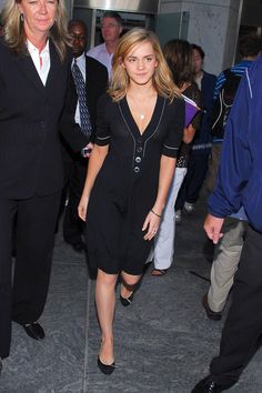 Emma Watson wearing Peter som at the 'Early Show'.