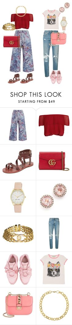 """Dressed Up Casual"" by shamrock-gal ❤ liked on Polyvore featuring SUNO New York, Keepsake the Label, Tory Burch, Gucci, Nine West, Dana Rebecca Designs, Chanel, Levi's, Puma and Valentino"
