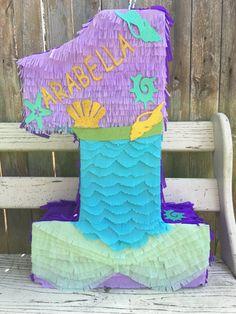 Pinata mermaid Mermaid pinata mermaid number por Divaboutiquestudio