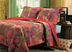 Amazon.com: Greenland Home 3-Piece Jewel Quilt Set, Full/Queen, Multicolor: Home & Kitchen