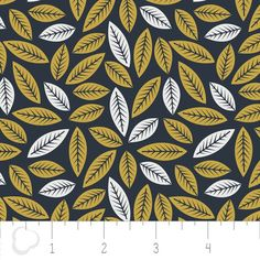 leaves patchwork design fabric // Blatt Muster Baumwoll-Stoff