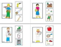 Clasificar - activiTEA Preschool Jobs, Preschool Number Worksheets, Senses Preschool, Community Helpers Preschool, Free Preschool, English Activities, Book Activities, Teacch Material, Childhood Education