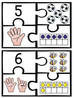 First Grade Math Unit Number Sense, Counting Forward, Ten Frames (and more! Learning Numbers, Math Numbers, Writing Numbers, Number Puzzles, Preschool Learning Activities, Teaching Kindergarten, Preschool Activities, 1st Grade Math, First Grade