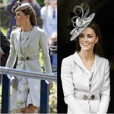 NEW Kate Middleton STYLE lady women Elegant gray coat jacket lace