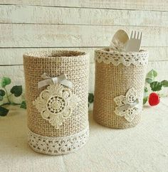 Knitting models: knitting models of the week basteln Tin Can Crafts, Diy And Crafts, Arts And Crafts, Mason Jar Crafts, Bottle Crafts, Painted Tin Cans, Recycled Decor, Tin Can Art, Pot A Crayon